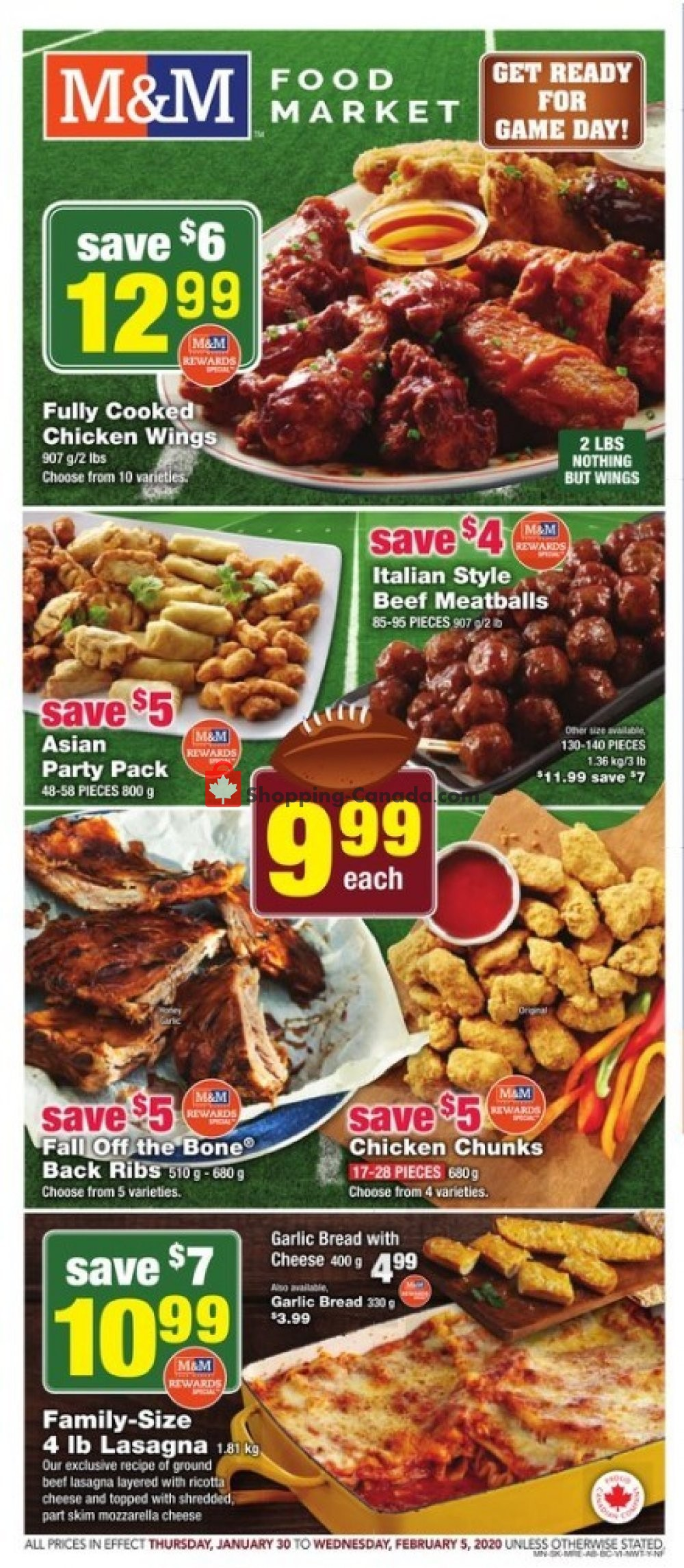 Flyer M&M Food Market Canada - from Thursday January 30, 2020 to Wednesday February 5, 2020