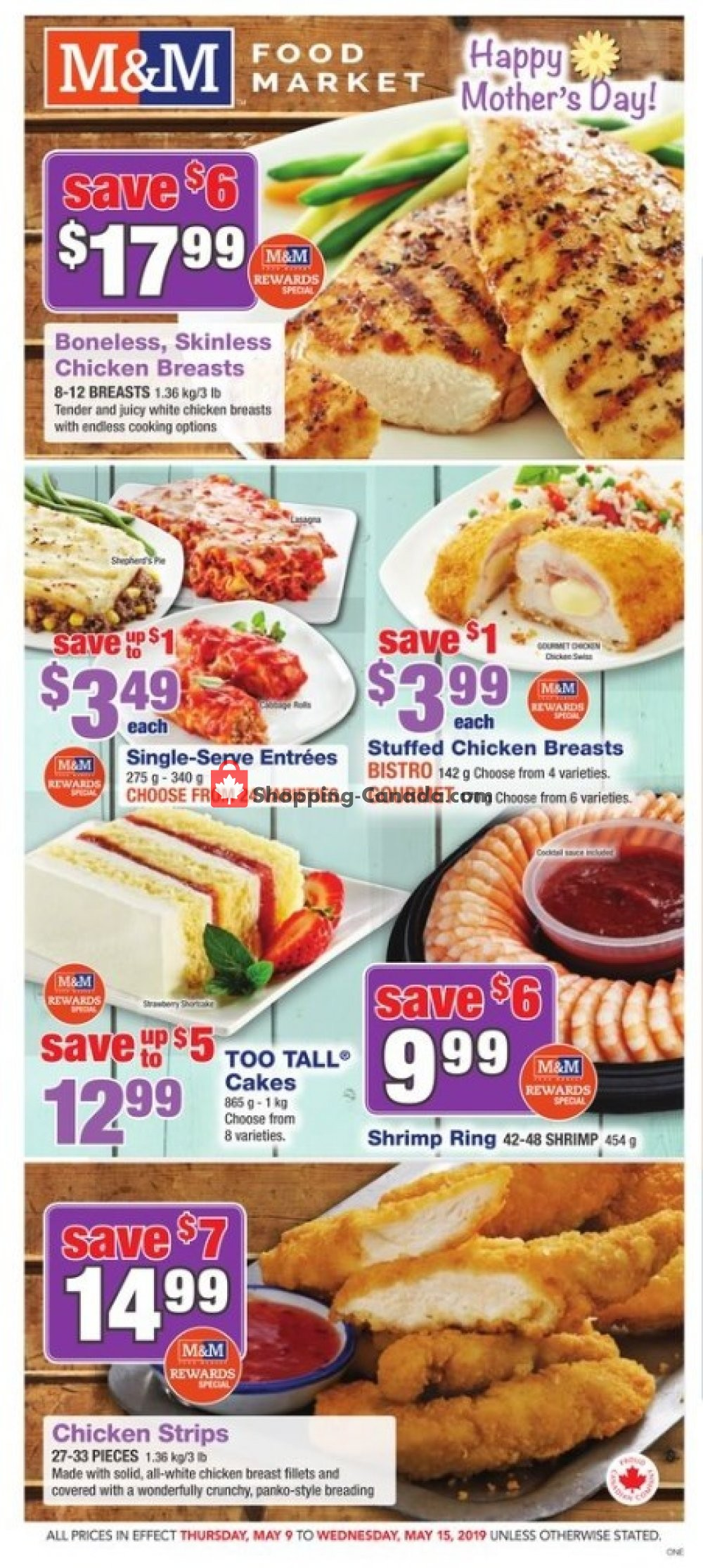 Flyer M&M Food Market Canada - from Thursday May 9, 2019 to Wednesday May 15, 2019