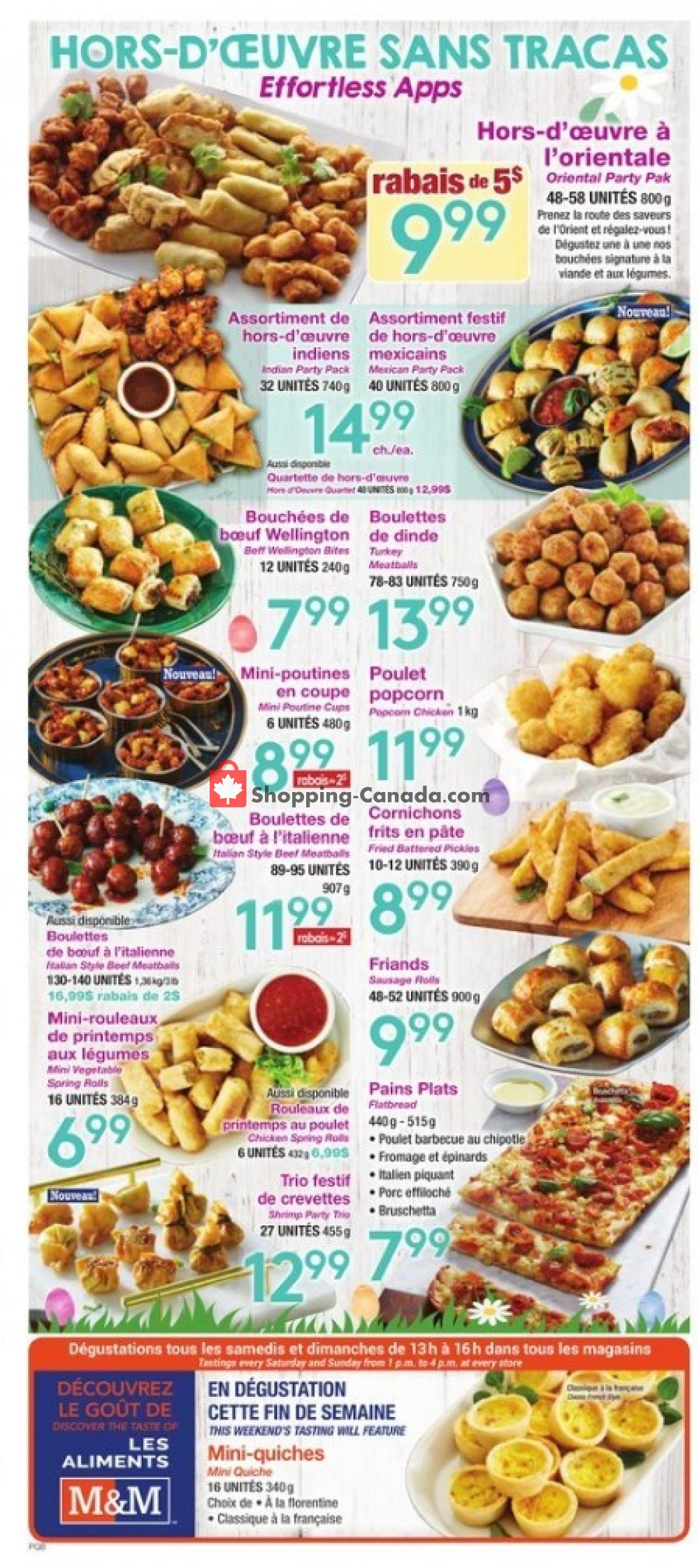 Flyer M&M Food Market Canada - from Thursday April 18, 2019 to Wednesday April 24, 2019