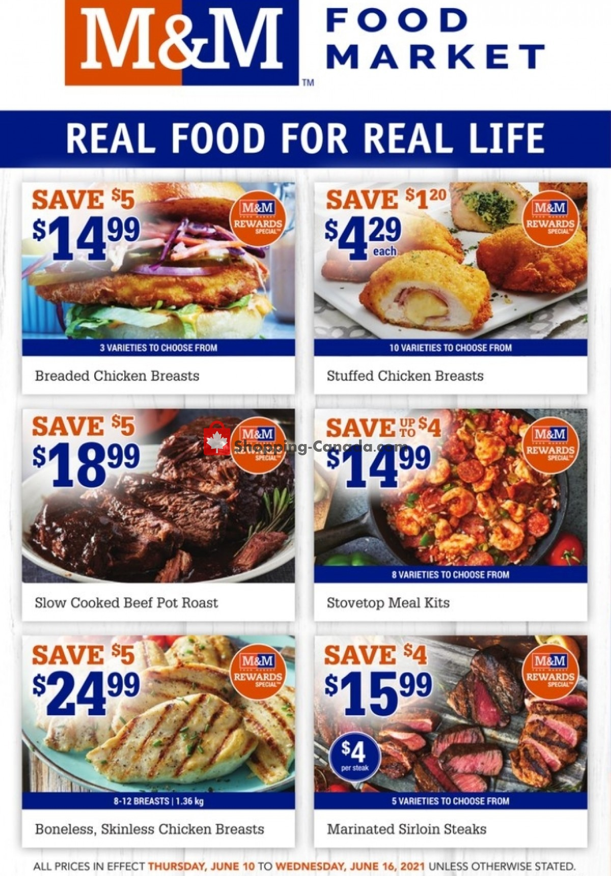 Flyer M&M Food Market Canada - from Thursday June 10, 2021 to Wednesday June 16, 2021