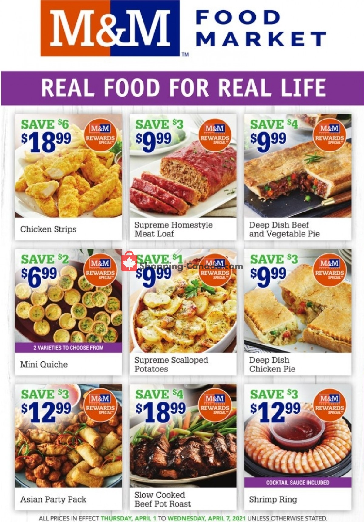 Flyer M&M Food Market Canada - from Thursday April 1, 2021 to Wednesday April 7, 2021