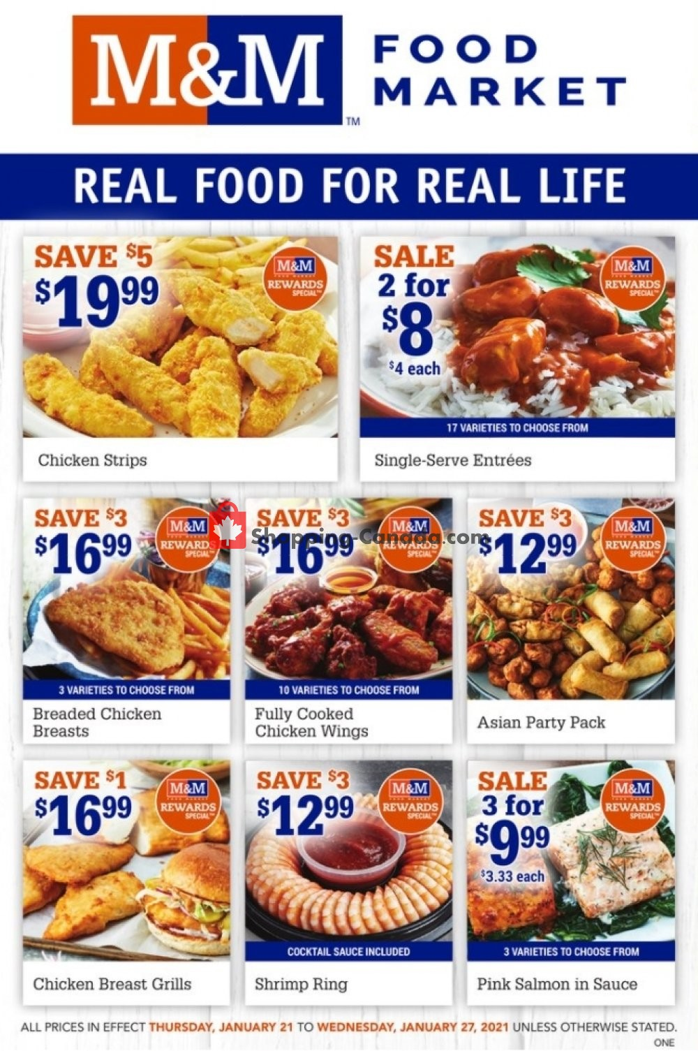 Flyer M&M Food Market Canada - from Thursday January 21, 2021 to Wednesday January 27, 2021