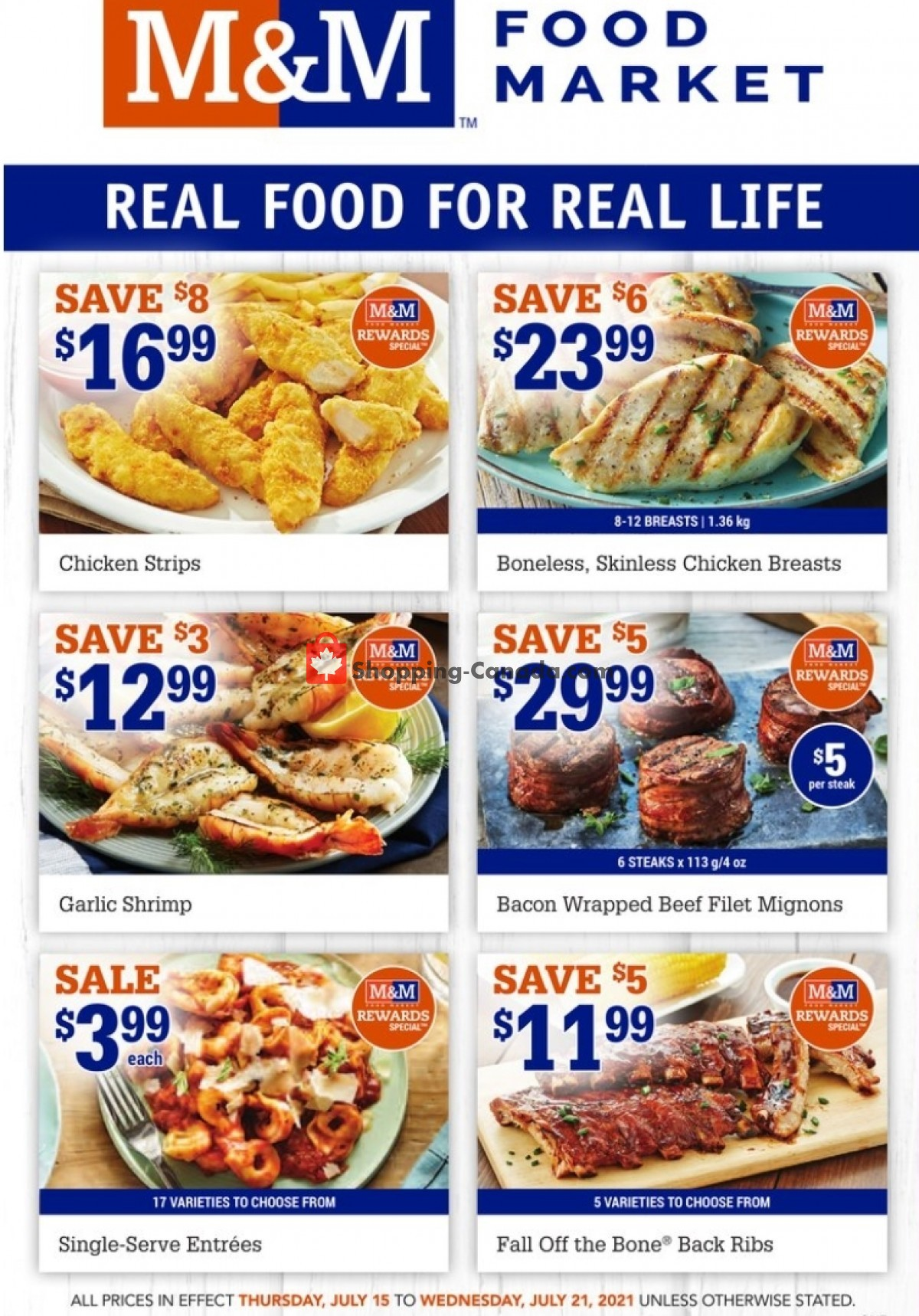 Flyer M&M Food Market Canada - from Thursday July 15, 2021 to Wednesday July 21, 2021