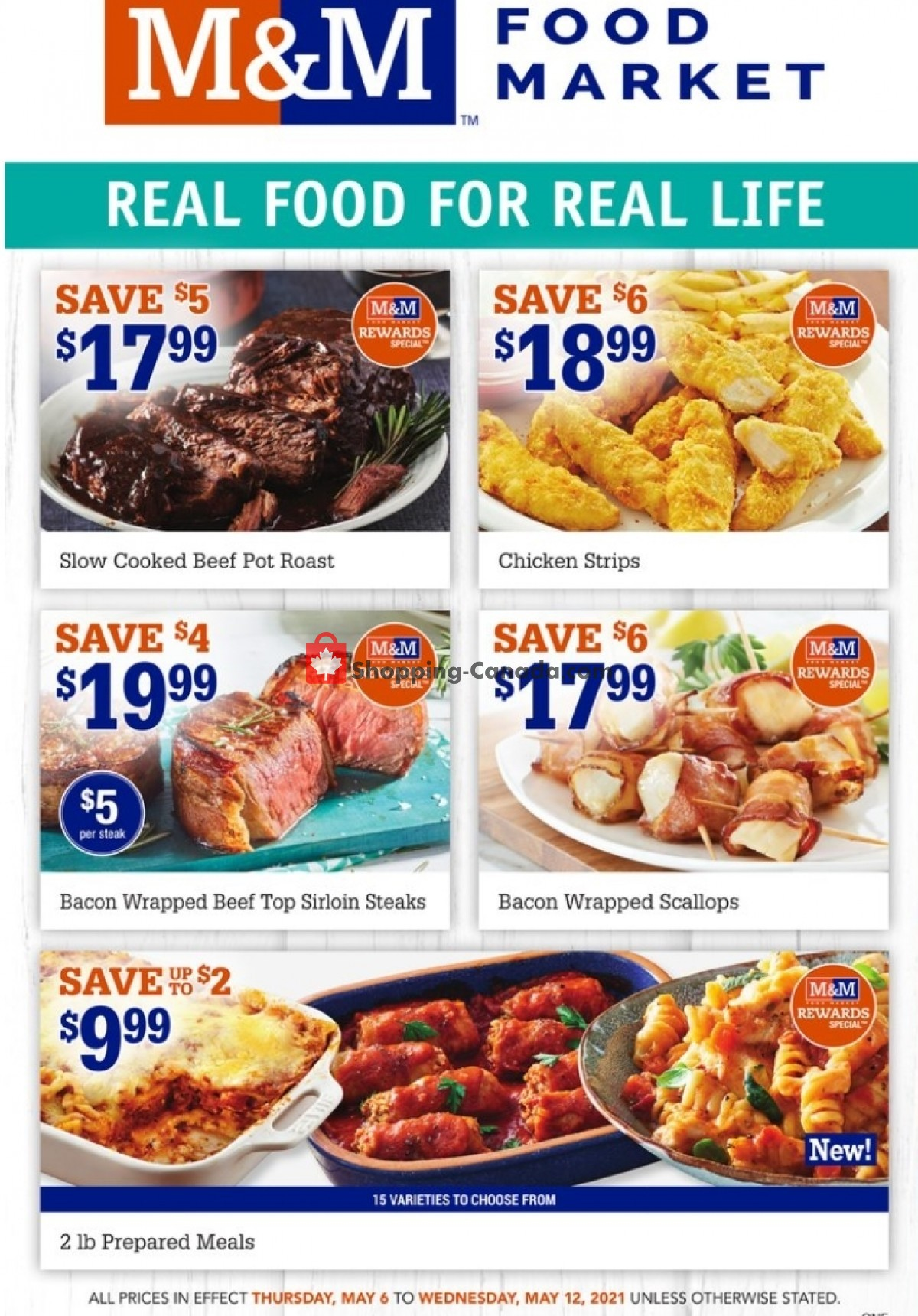 Flyer M&M Food Market Canada - from Thursday May 6, 2021 to Wednesday May 12, 2021