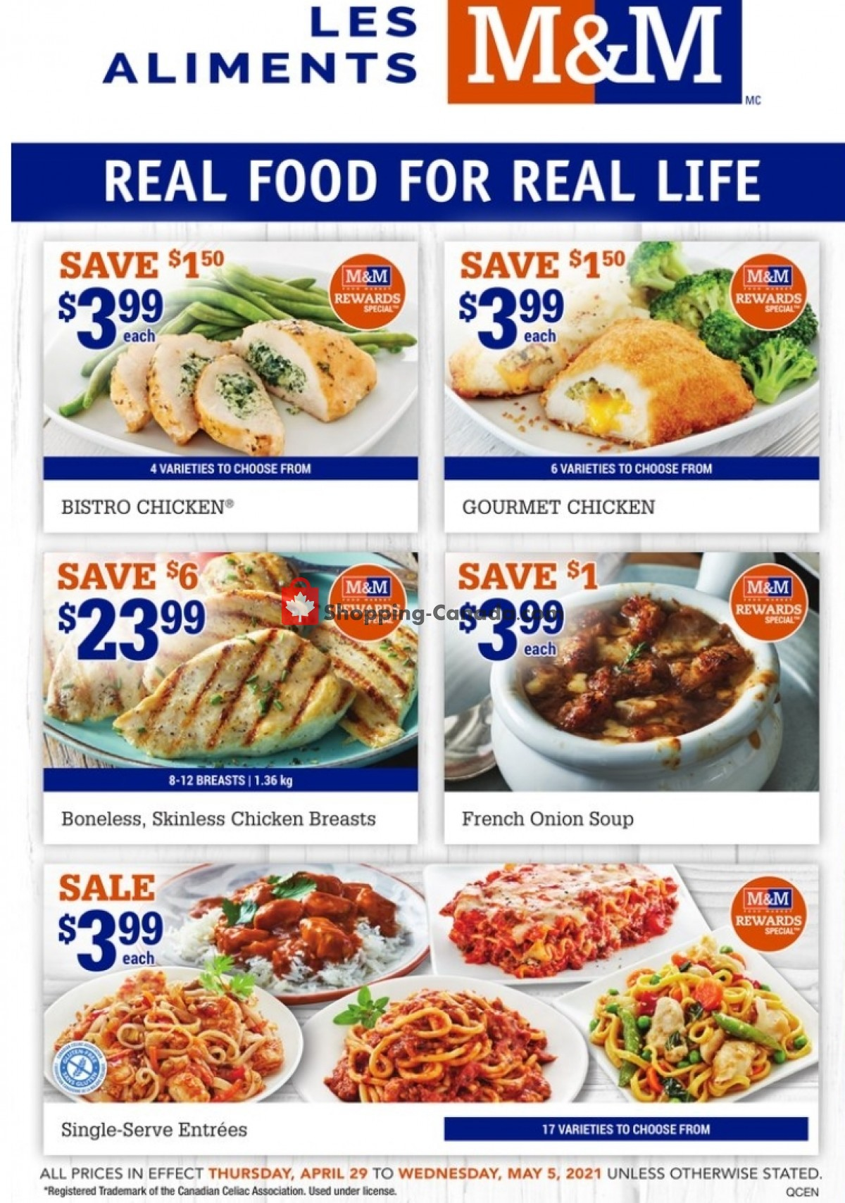 Flyer M&M Food Market Canada - from Thursday April 29, 2021 to Wednesday May 5, 2021