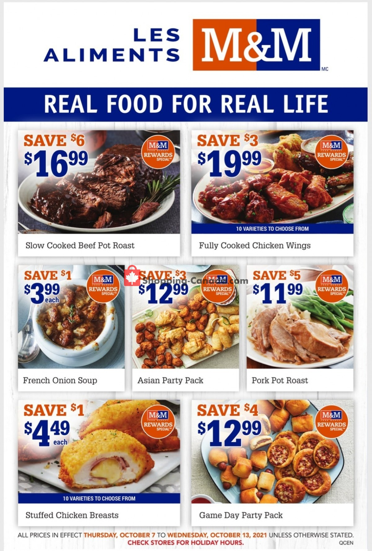 Flyer M&M Food Market Canada - from Thursday October 7, 2021 to Wednesday October 13, 2021