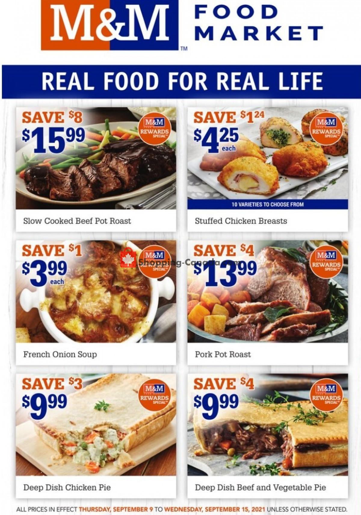 Flyer M&M Food Market Canada - from Thursday September 9, 2021 to Wednesday September 15, 2021