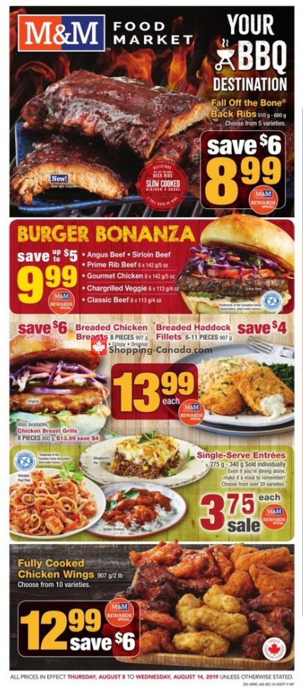 Flyer M&M Food Market Canada - from Thursday August 8, 2019 to Wednesday August 14, 2019