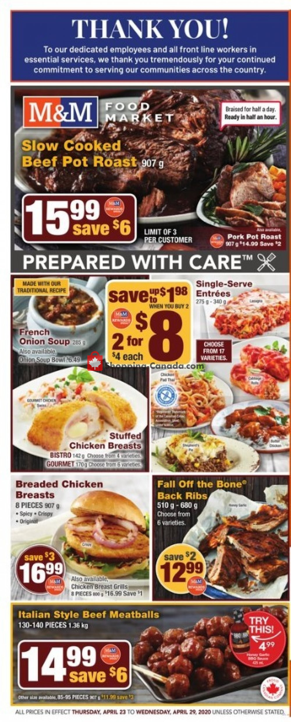 Flyer M&M Food Market Canada - from Thursday April 23, 2020 to Wednesday April 29, 2020
