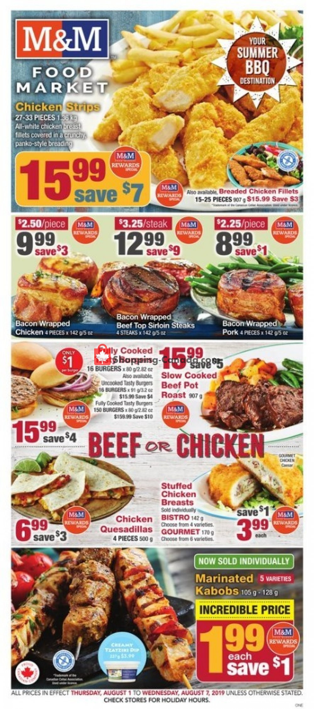 Flyer M&M Food Market Canada - from Thursday August 1, 2019 to Wednesday August 7, 2019