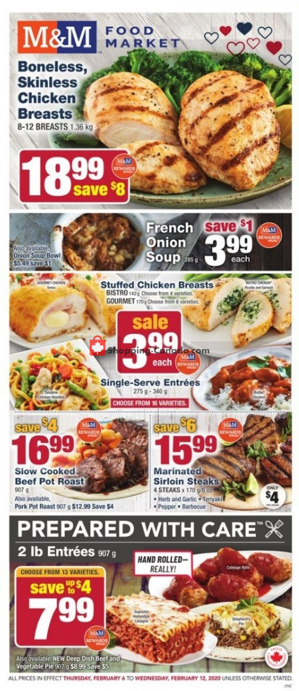 Flyer M&M Food Market Canada - from Thursday February 6, 2020 to Wednesday February 12, 2020