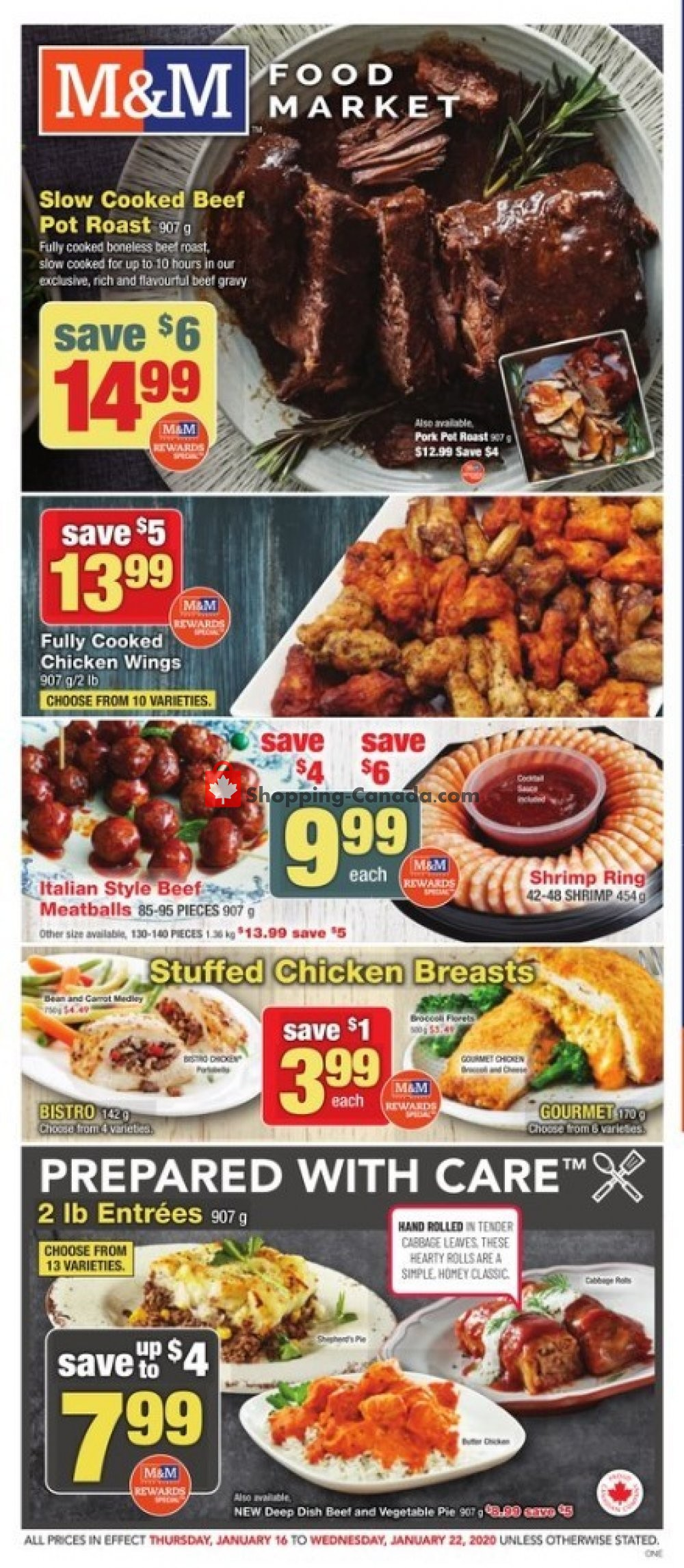 Flyer M&M Food Market Canada - from Thursday January 16, 2020 to Wednesday January 22, 2020