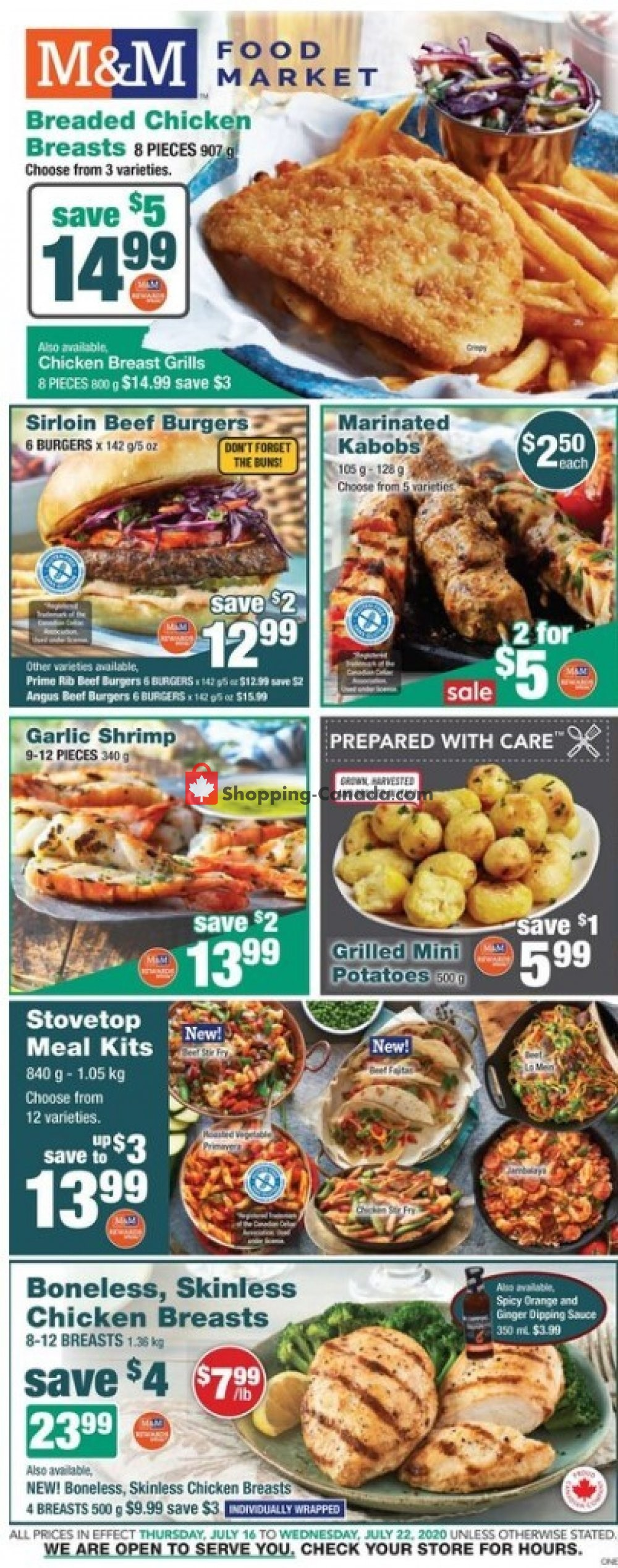 Flyer M&M Food Market Canada - from Thursday July 16, 2020 to Wednesday July 22, 2020