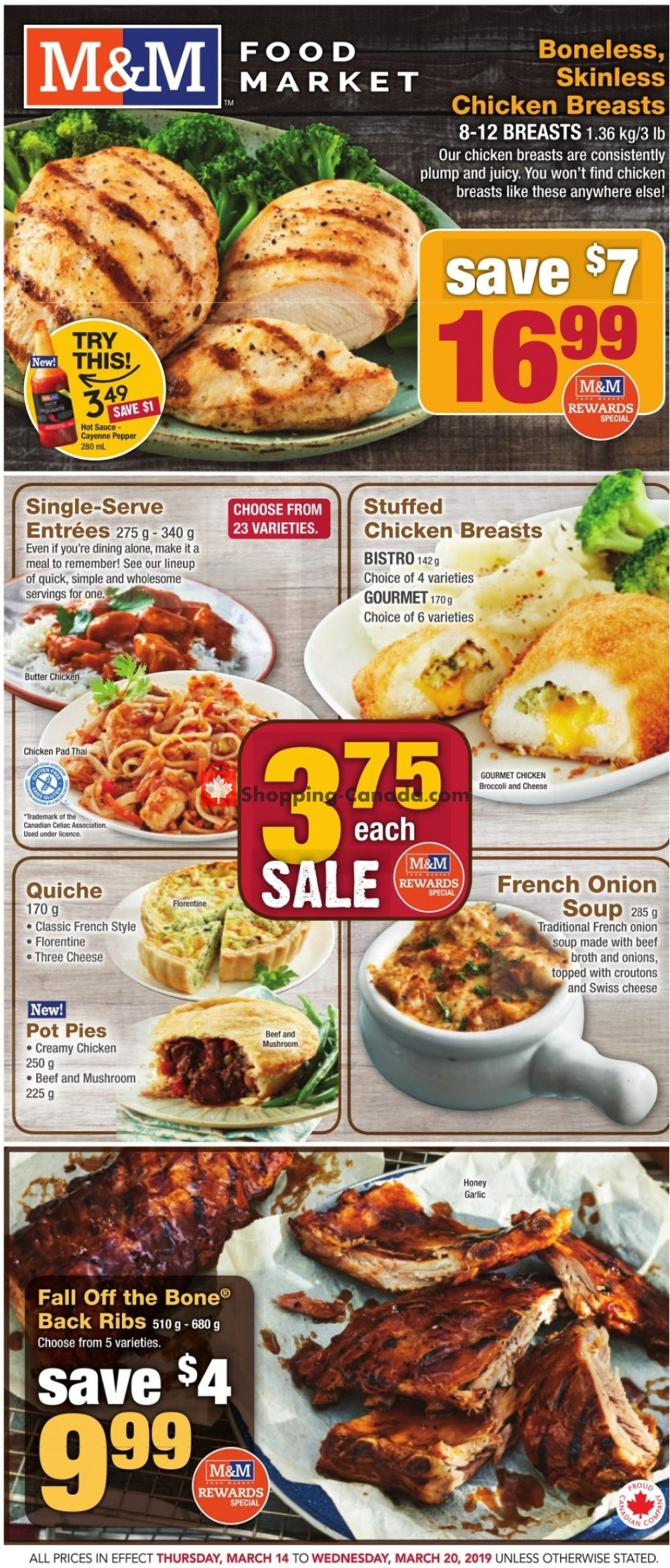 Flyer M&M Food Market Canada - from Thursday March 14, 2019 to Wednesday March 20, 2019