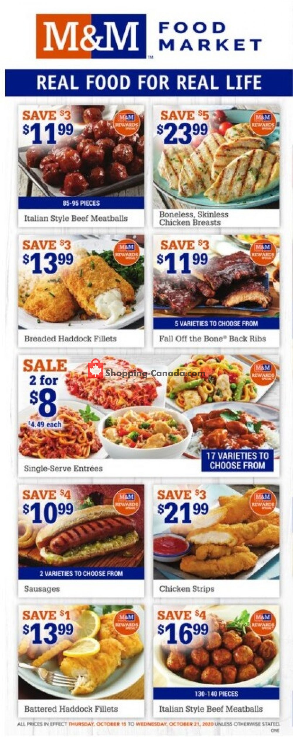 Flyer M&M Food Market Canada - from Thursday October 15, 2020 to Wednesday October 21, 2020