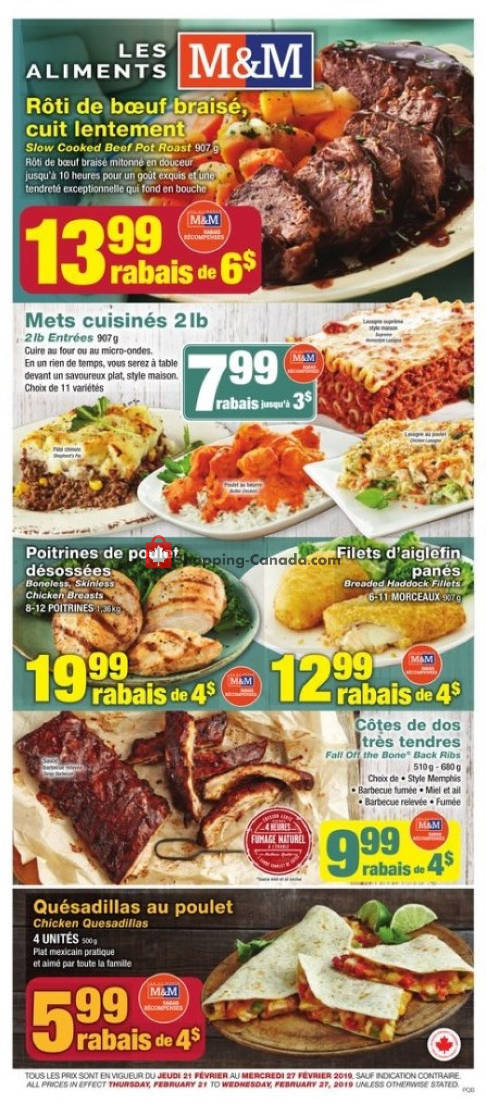Flyer M&M Food Market Canada - from Thursday February 21, 2019 to Wednesday February 27, 2019