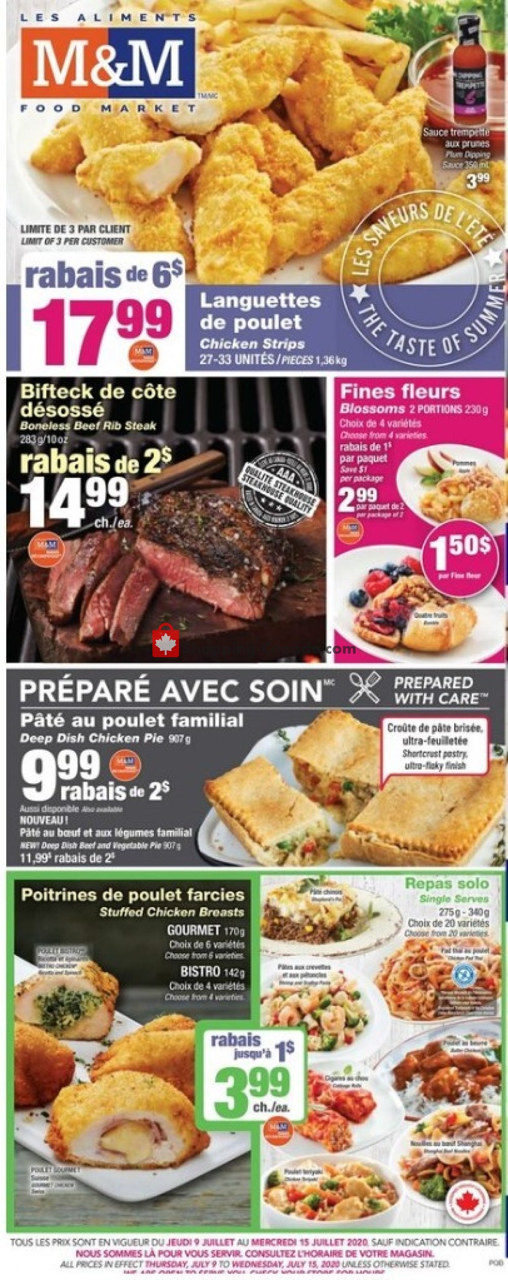 Flyer M&M Food Market Canada - from Thursday July 9, 2020 to Wednesday July 15, 2020