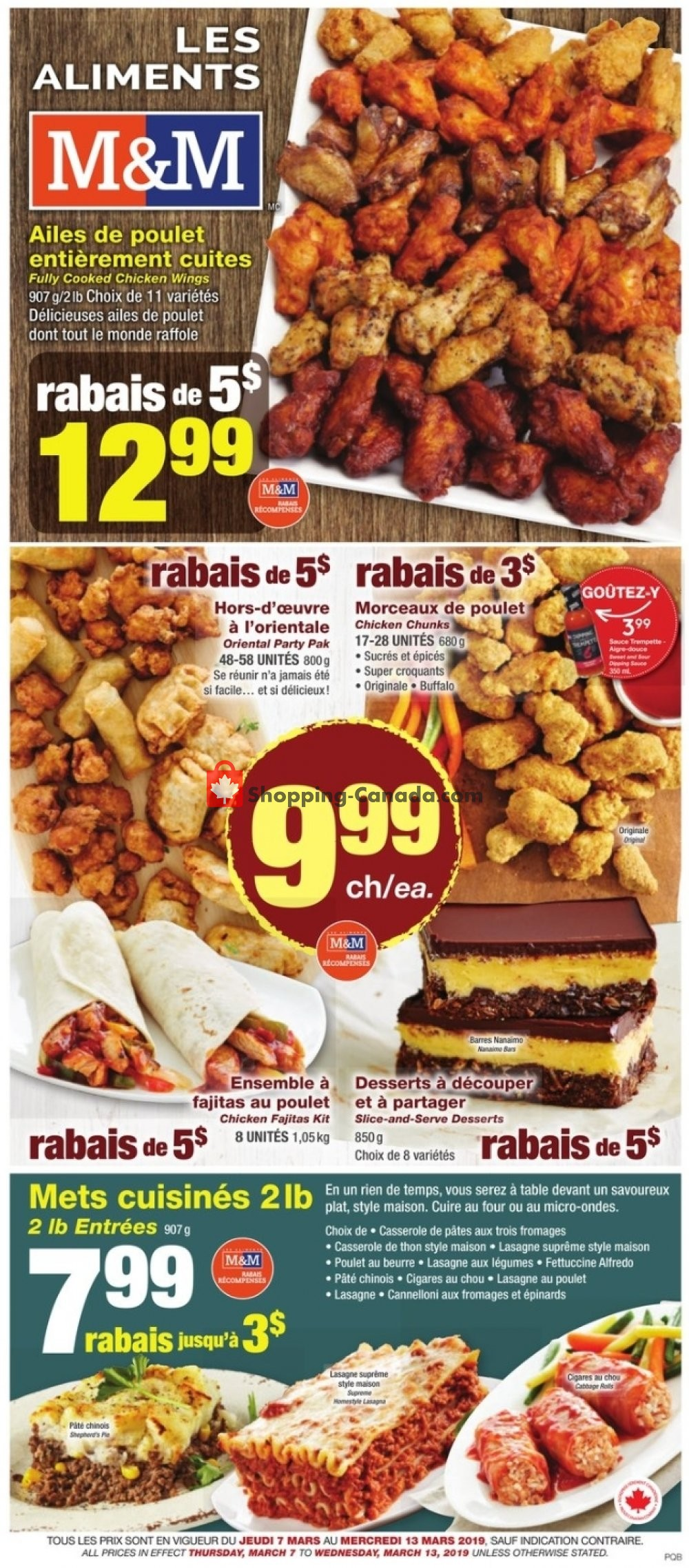 Flyer M&M Food Market Canada - from Thursday March 7, 2019 to Wednesday March 13, 2019
