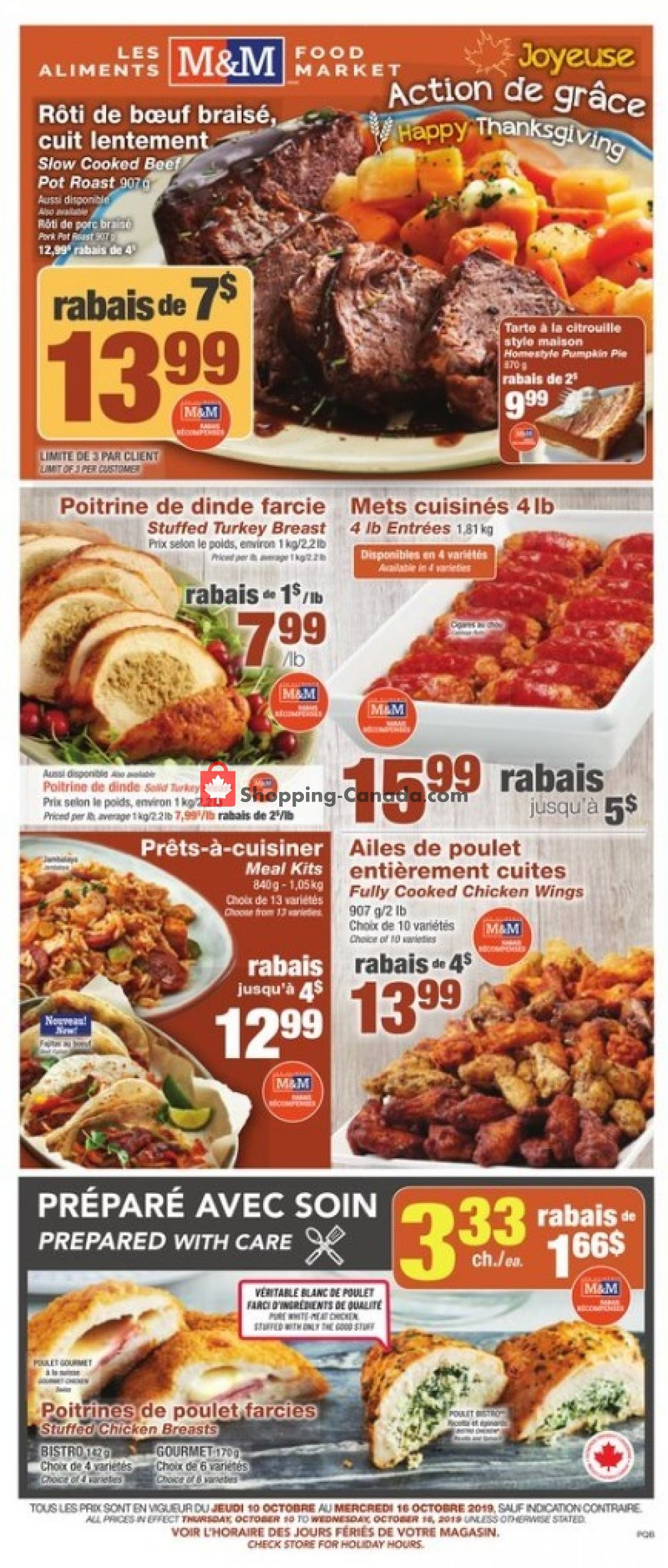 Flyer M&M Food Market Canada - from Thursday October 10, 2019 to Wednesday October 16, 2019