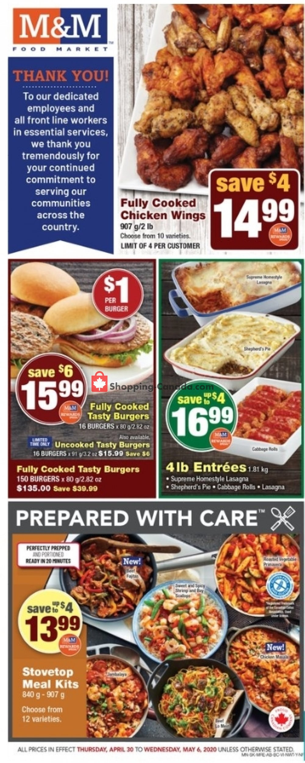 Flyer M&M Food Market Canada - from Thursday April 30, 2020 to Wednesday May 6, 2020