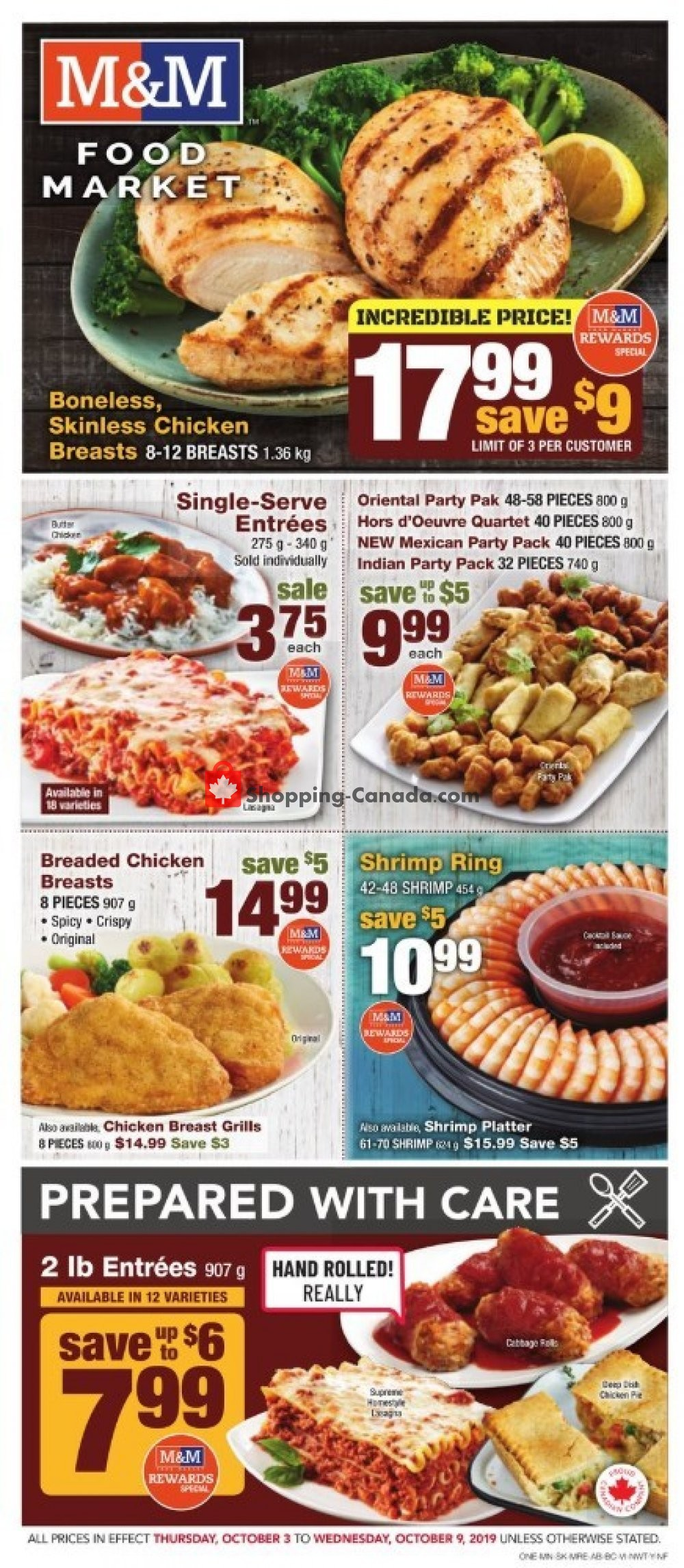 Flyer M&M Food Market Canada - from Thursday October 3, 2019 to Wednesday October 9, 2019