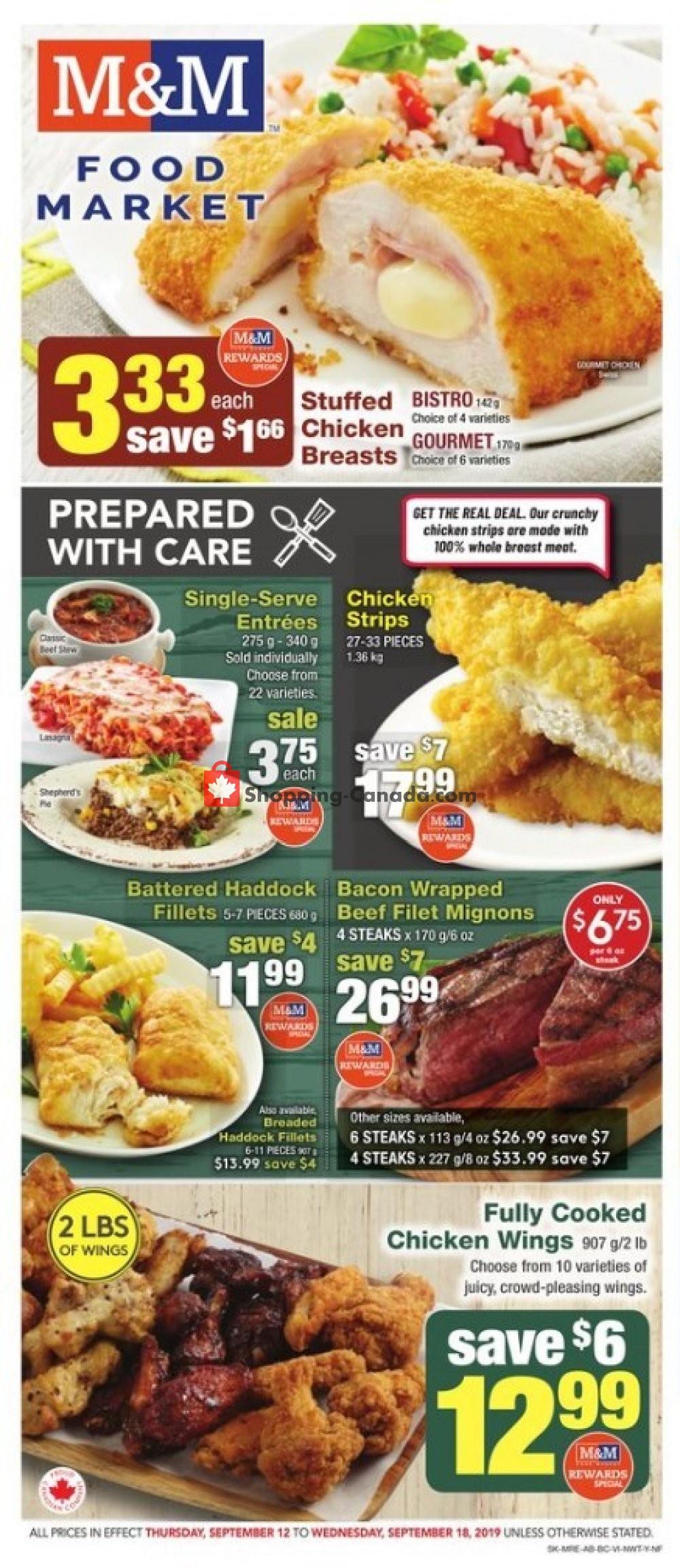 Flyer M&M Food Market Canada - from Thursday September 12, 2019 to Wednesday September 18, 2019