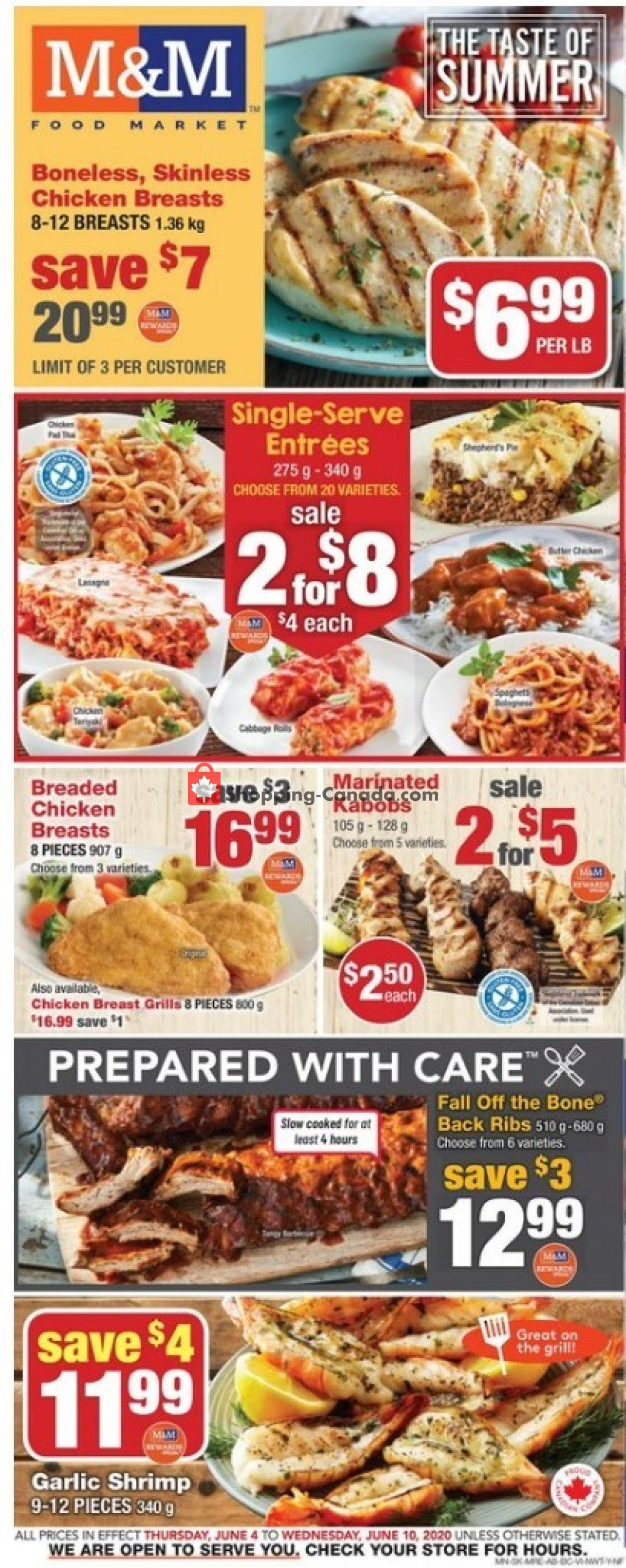 Flyer M&M Food Market Canada - from Thursday June 4, 2020 to Wednesday June 10, 2020