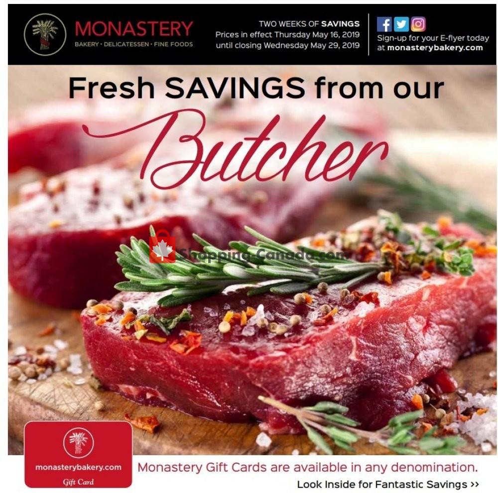 Flyer Monastery Bakery Canada - from Thursday May 16, 2019 to Wednesday May 29, 2019