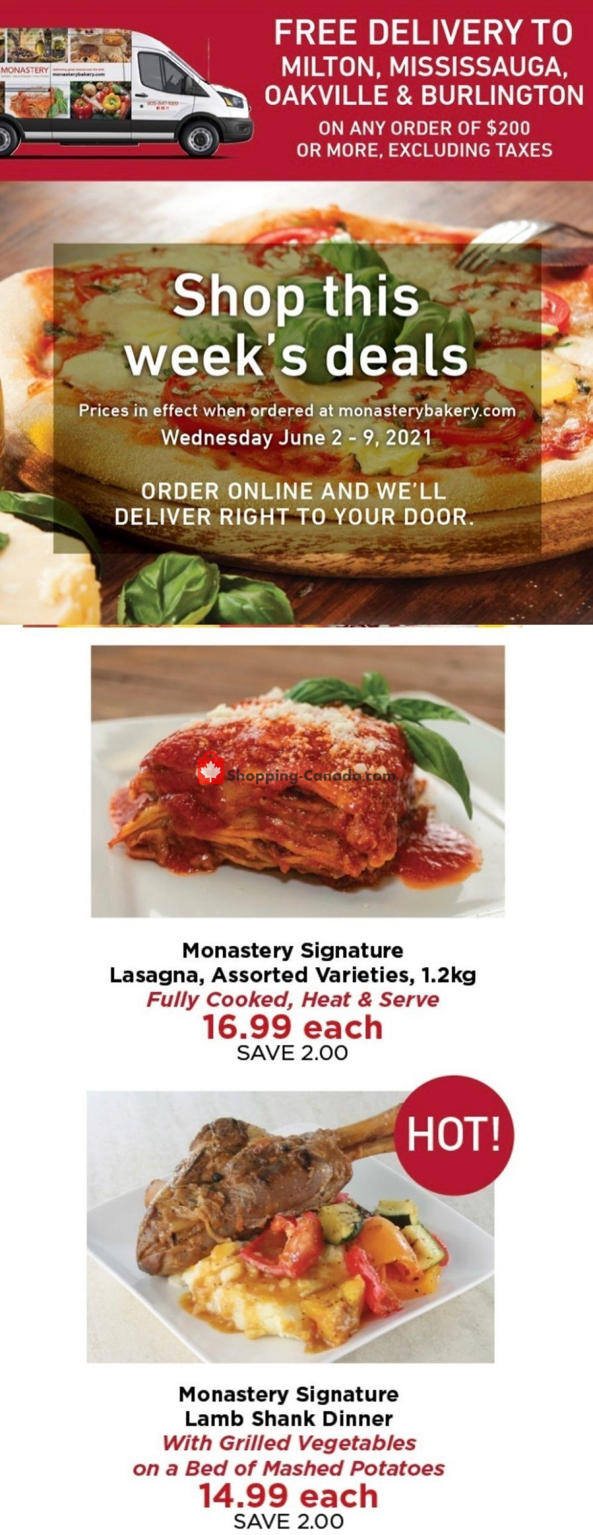 Flyer Monastery Bakery Canada - from Wednesday June 2, 2021 to Wednesday June 9, 2021