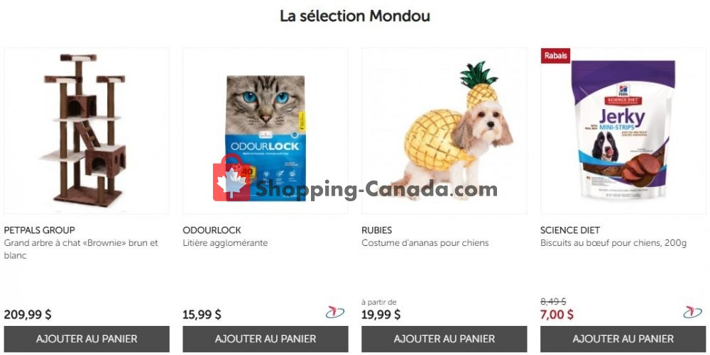 Flyer Mondou Canada - from Monday October 12, 2020 to Sunday October 18, 2020