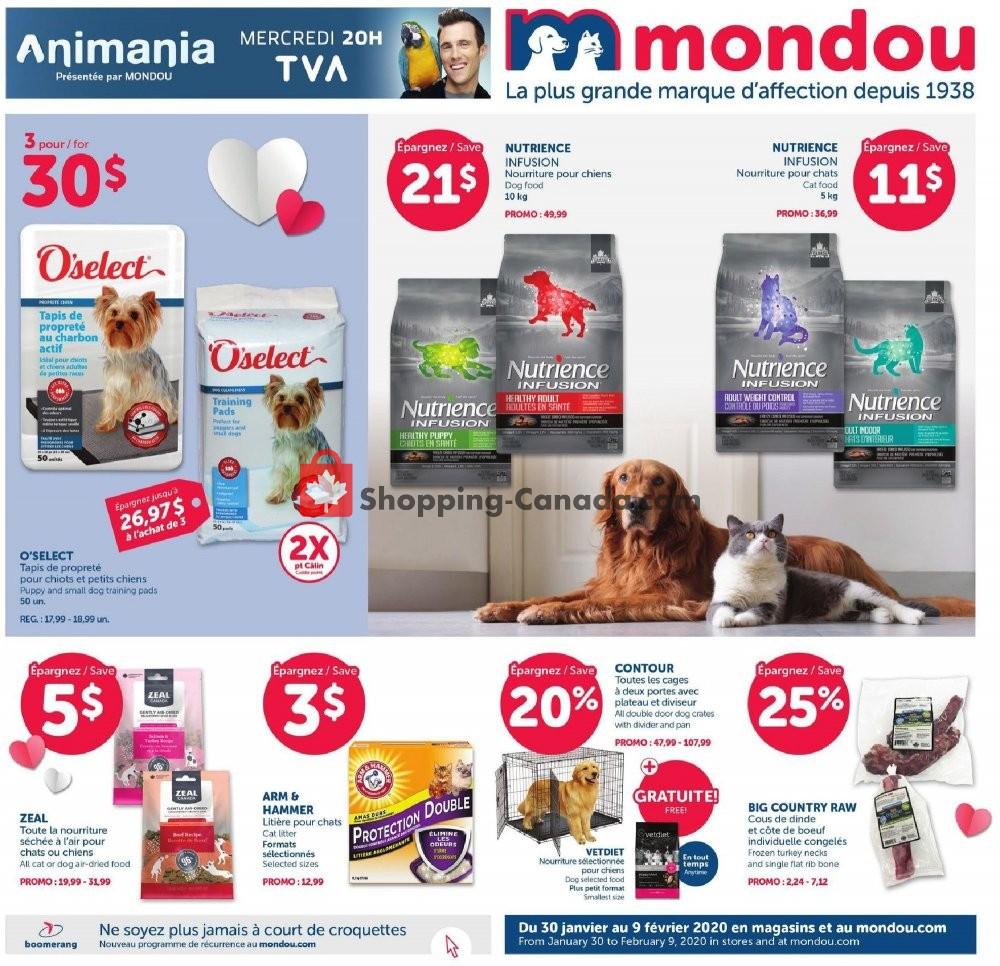 Flyer Mondou Canada - from Thursday January 30, 2020 to Sunday February 9, 2020