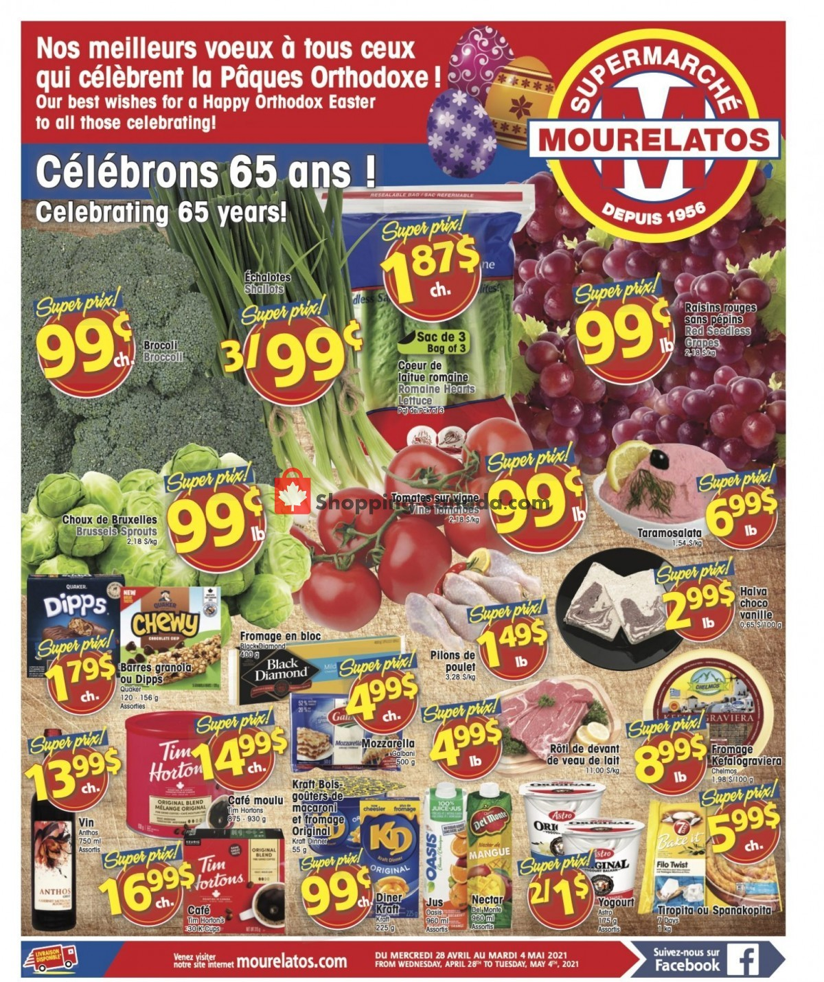 Flyer Mourelatos Canada - from Wednesday April 28, 2021 to Tuesday May 4, 2021