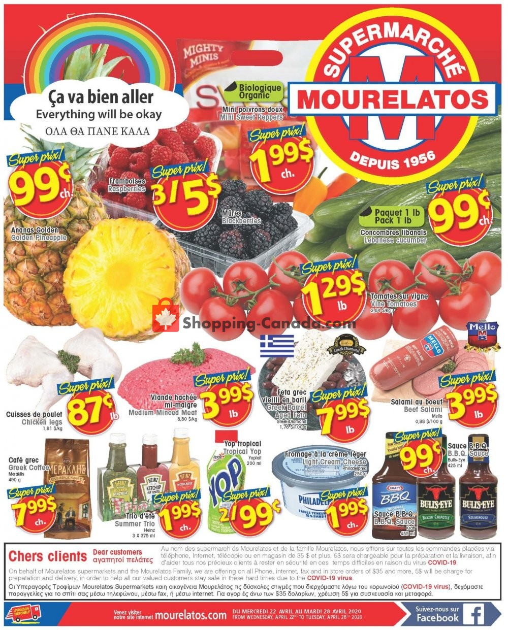 Flyer Mourelatos Canada - from Wednesday April 22, 2020 to Tuesday April 28, 2020