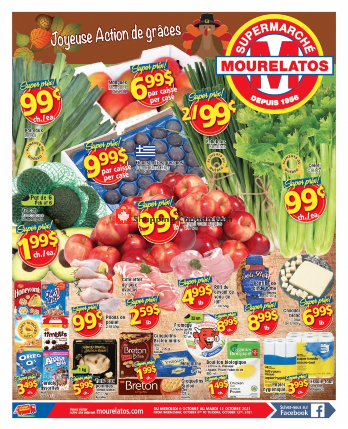 Flyer Mourelatos Canada - from Wednesday October 6, 2021 to Tuesday October 12, 2021