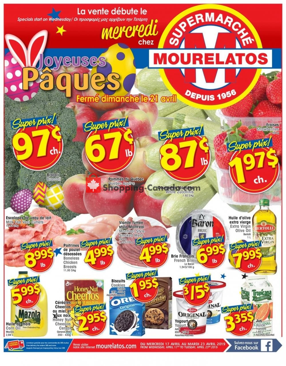 Flyer Mourelatos Canada - from Wednesday April 17, 2019 to Tuesday April 23, 2019