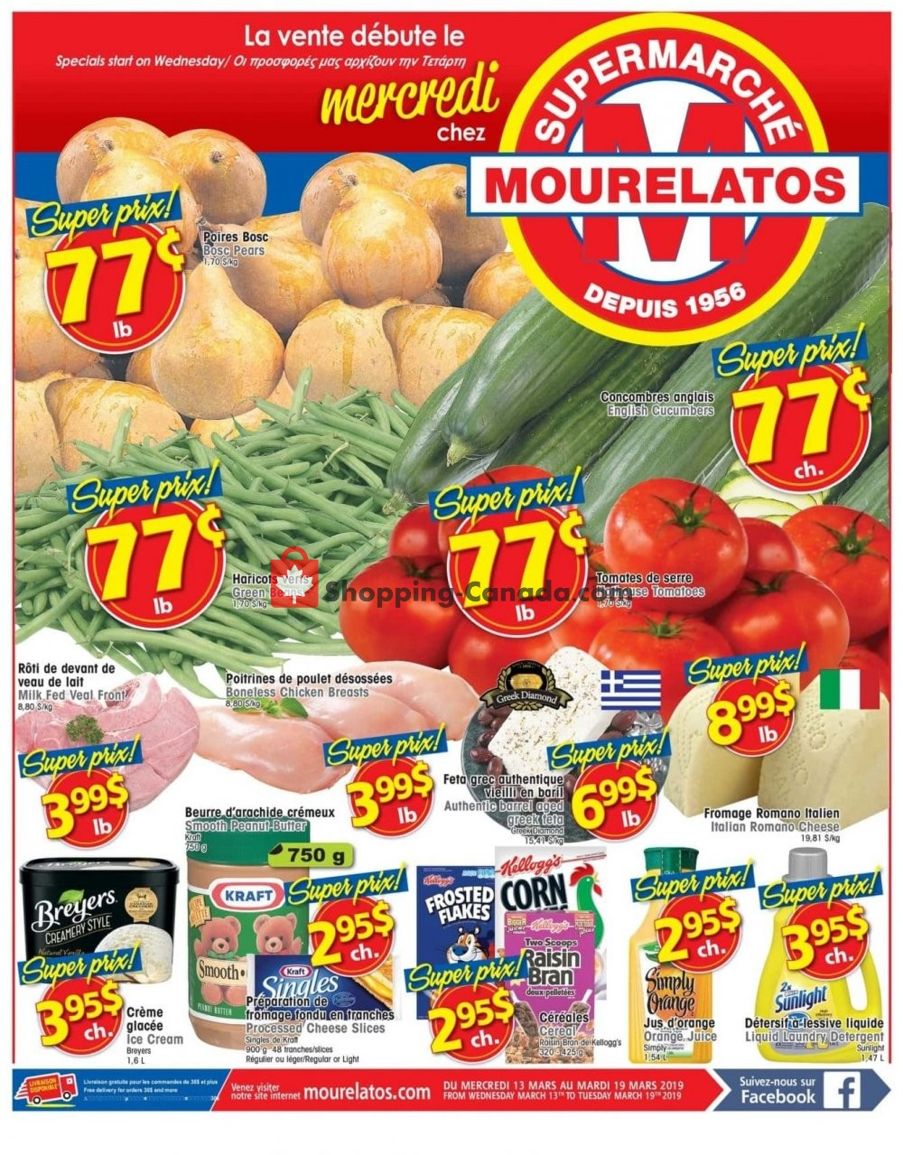 Flyer Mourelatos Canada - from Wednesday March 13, 2019 to Tuesday March 19, 2019