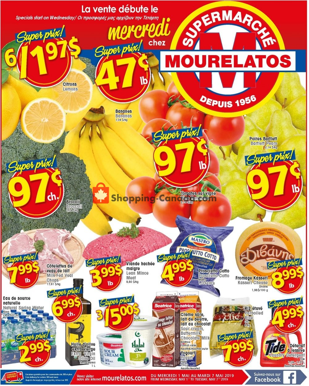 Flyer Mourelatos Canada - from Wednesday May 1, 2019 to Tuesday May 7, 2019