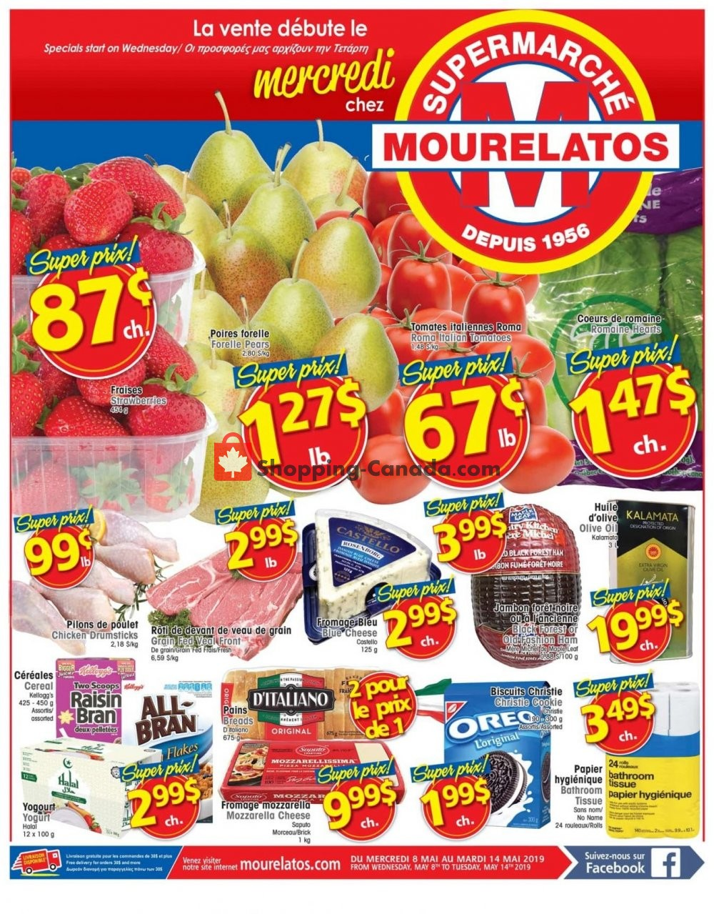 Flyer Mourelatos Canada - from Wednesday May 8, 2019 to Tuesday May 14, 2019