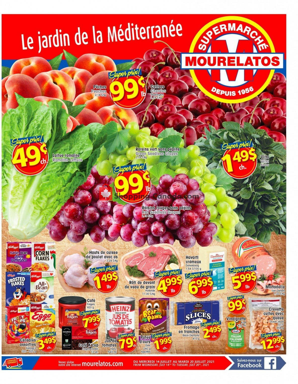 Flyer Mourelatos Canada - from Wednesday July 14, 2021 to Tuesday July 20, 2021