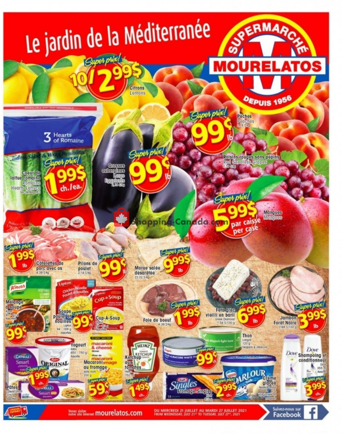 Flyer Mourelatos Canada - from Wednesday July 21, 2021 to Tuesday July 27, 2021