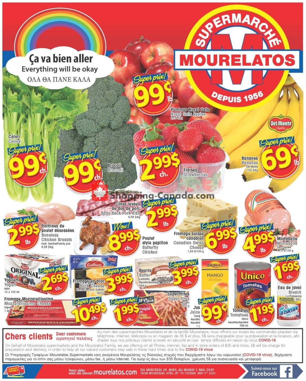 Flyer Mourelatos Canada - from Wednesday April 29, 2020 to Tuesday May 5, 2020