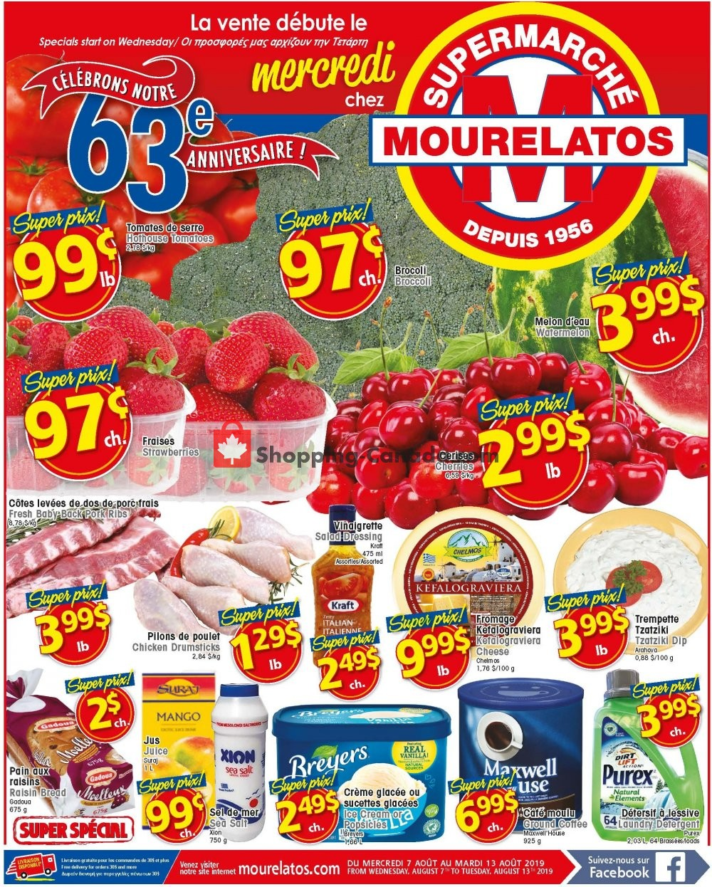 Flyer Mourelatos Canada - from Wednesday August 7, 2019 to Tuesday August 13, 2019