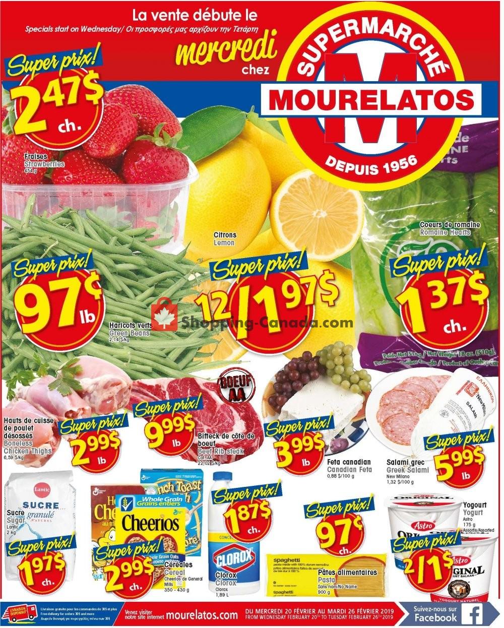 Flyer Mourelatos Canada - from Wednesday February 20, 2019 to Wednesday February 27, 2019