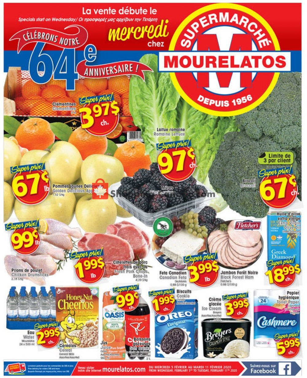 Flyer Mourelatos Canada - from Wednesday February 5, 2020 to Tuesday February 11, 2020