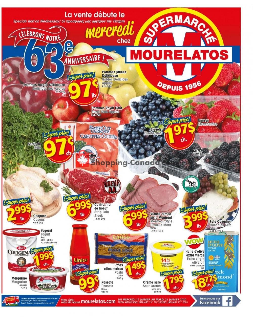 Flyer Mourelatos Canada - from Wednesday January 15, 2020 to Tuesday January 21, 2020