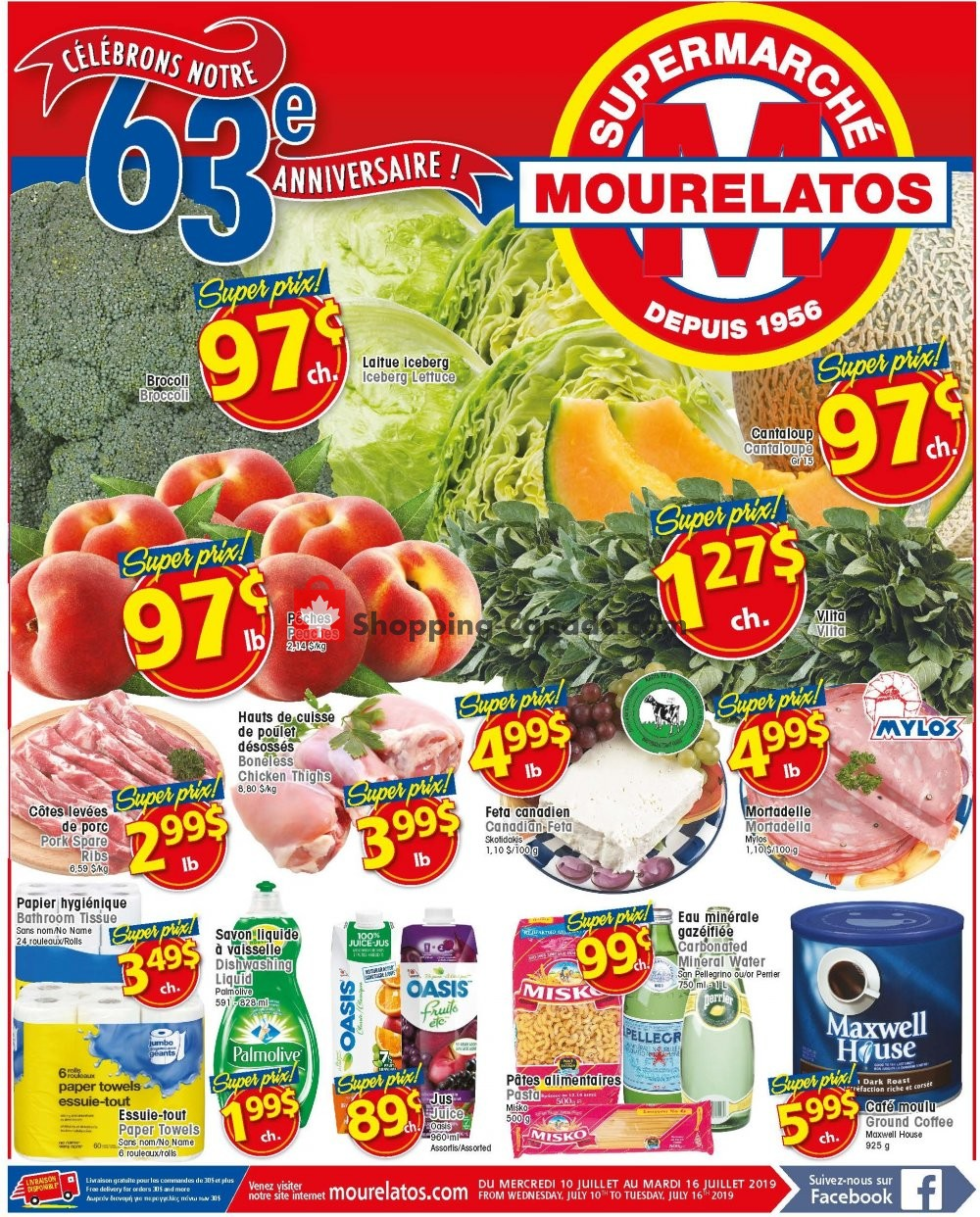 Flyer Mourelatos Canada - from Wednesday July 10, 2019 to Tuesday July 16, 2019