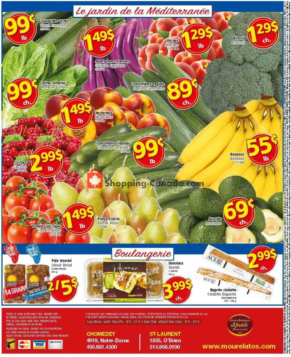 Flyer Mourelatos Canada - from Wednesday July 24, 2019 to Tuesday July 30, 2019