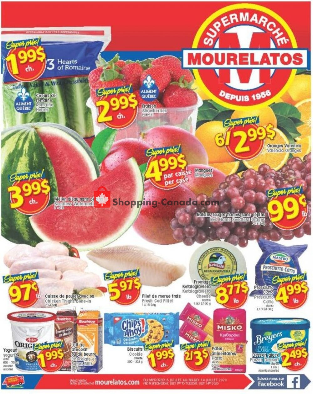 Flyer Mourelatos Canada - from Wednesday July 8, 2020 to Tuesday July 14, 2020