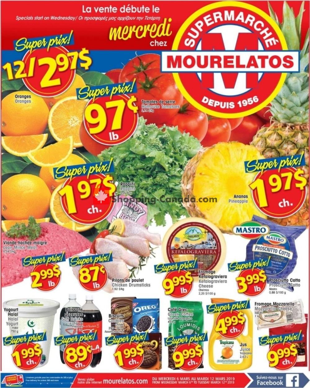 Flyer Mourelatos Canada - from Wednesday March 6, 2019 to Tuesday March 12, 2019