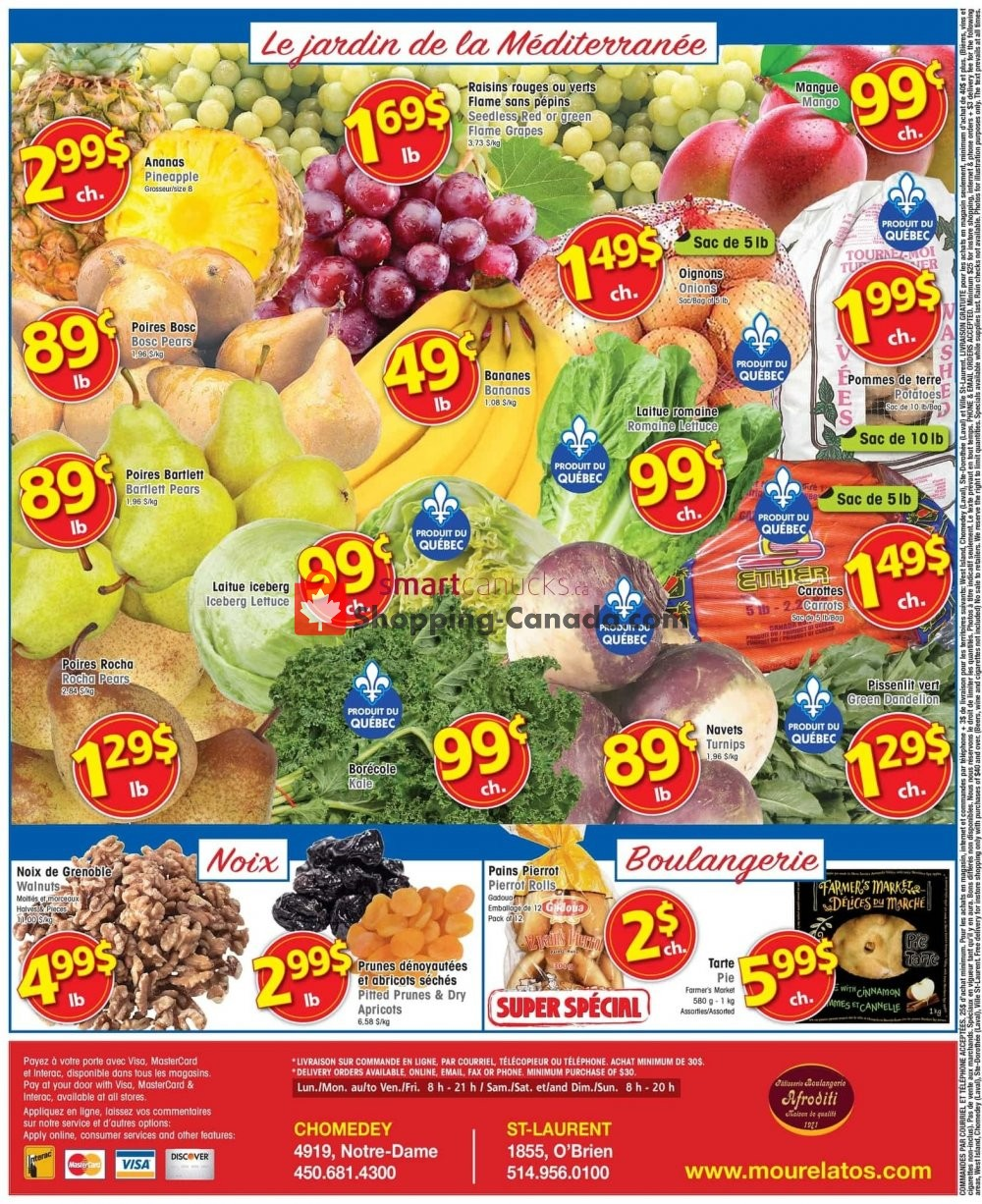 Flyer Mourelatos Canada - from Wednesday October 9, 2019 to Tuesday October 15, 2019